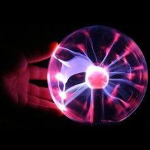 "3 ""usb bola mágica esfera eletrostática luz de cristal lâmpada mesa luz natal presente festa luz"