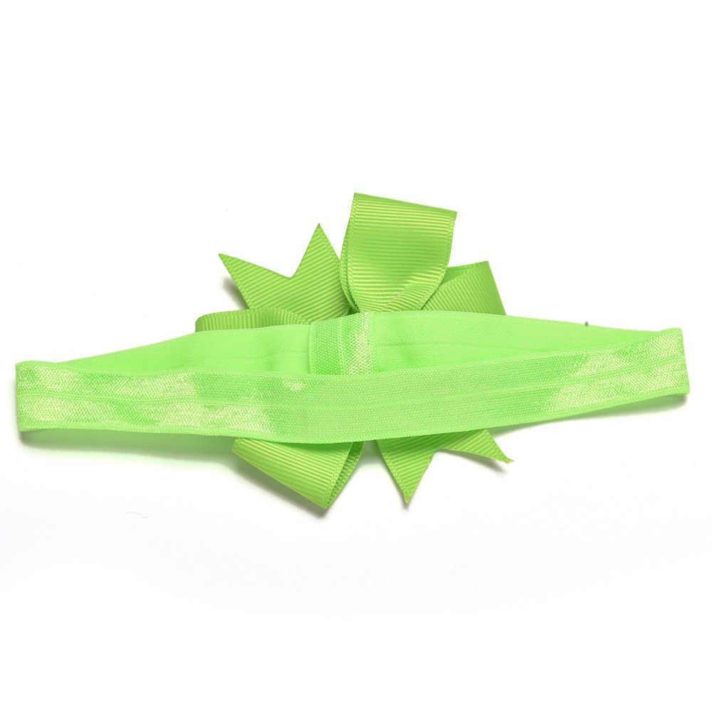 20 unids/lote lazo de pelo para niña diadema DIY cinta de grogrén lazo bandas elásticas para el pelo recién nacido accesorios de pelo para niñas