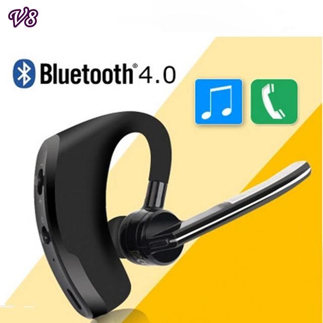 V8 teléfono Manos Libres Estéreo Inalámbrico Bluetooth V4.0 auriculares de Negocios Conductor de Coche bluetooth headset Manos Libres de auriculares Con Micrófono
