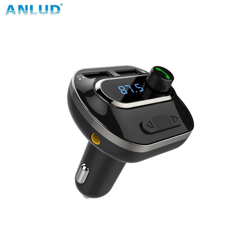 Bluetooth FM Transmetteur Sans Fil Dans la Voiture Radio Transmetteur Adaptateur De Voiture Kit Chargeur De Voiture Universel avec Double USB Ports De Charge