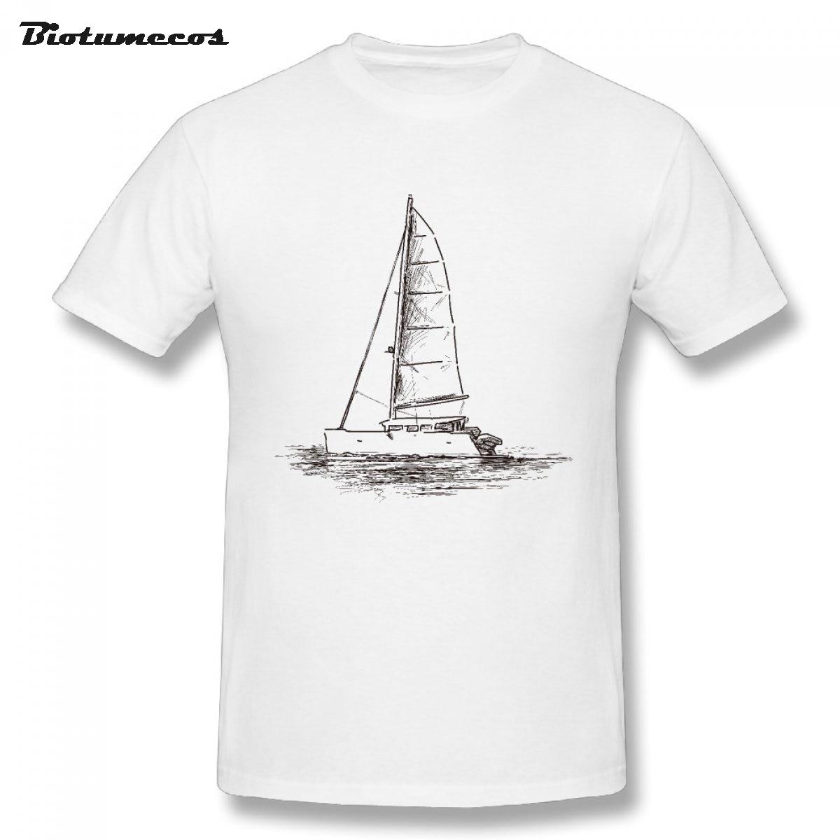 Shirt design sketches - 3xl M Czy Ni T Shirt Jachtu Szkic Specjalnie Zaprojektowany Funny T Shirt Men 100 Kr Tki R Kaw