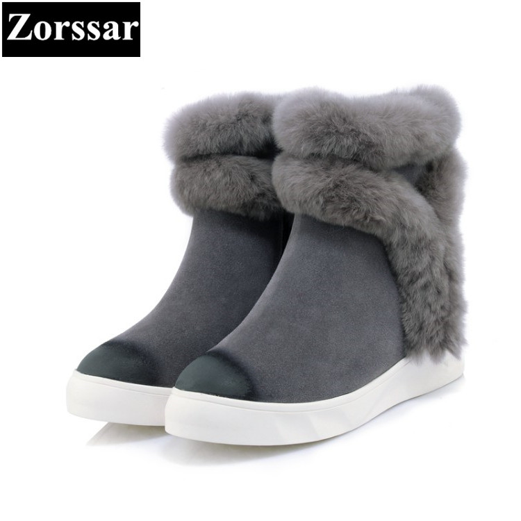 {Zorssar} 2017 NEW Classic winter Plush Women Boots Suede Ankle Snow Boots Female Warm Fur women shoes wedges platform boots zorssar 2017 new classic winter plush women boots suede ankle snow boots female warm fur women shoes wedges platform boots