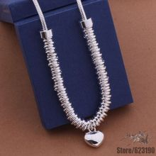 AN471 925 sterling silver Necklace, 925 silver vogue jewellery How small circle stable necklace /icfaqtma