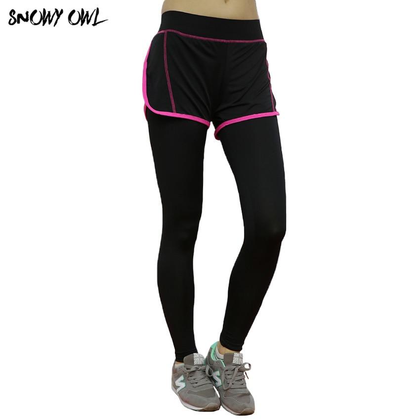✔  Штаны для йоги в корейском стиле False Two Весенние и осенние спортивные брюки Женские тренировочные ✔