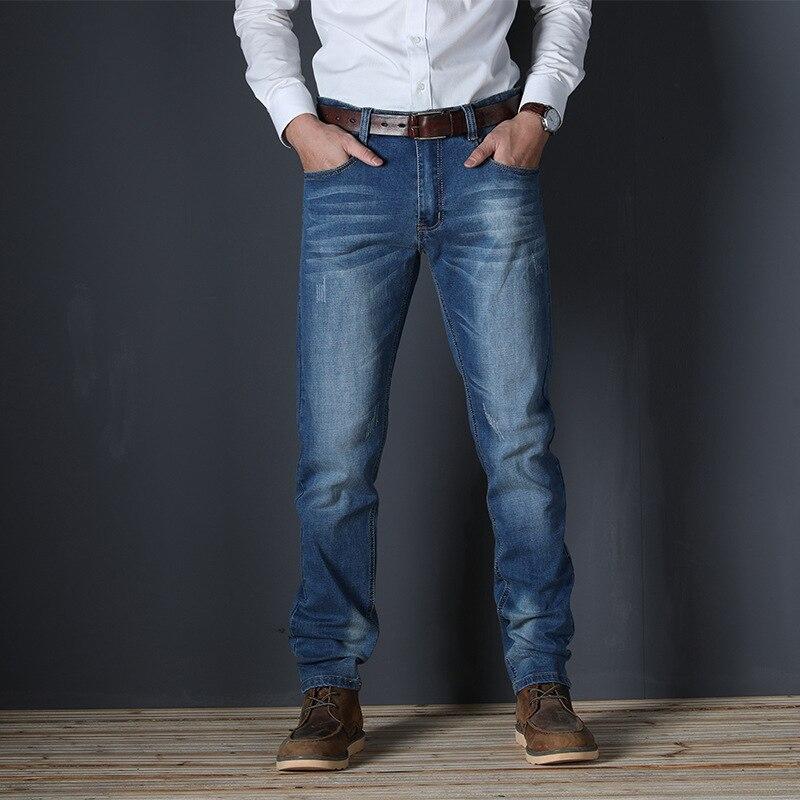 VOMNINT New Men's Fashion Jeans Business Casual Stretch Slim Jeans Classic Trousers Denim Pants Male 7711