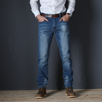 VOMNINT New Men's Fashion Jeans Business Casual Stretch Slim Jeans Classic Trousers Denim Pants Male 7711