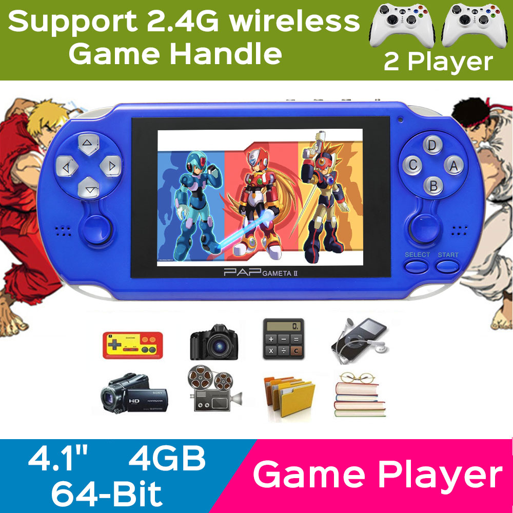New 2016 64 bit Handheld Game Players 4.3″ handheld game console With 200 Kinds portable consoles Multimedia classic Games