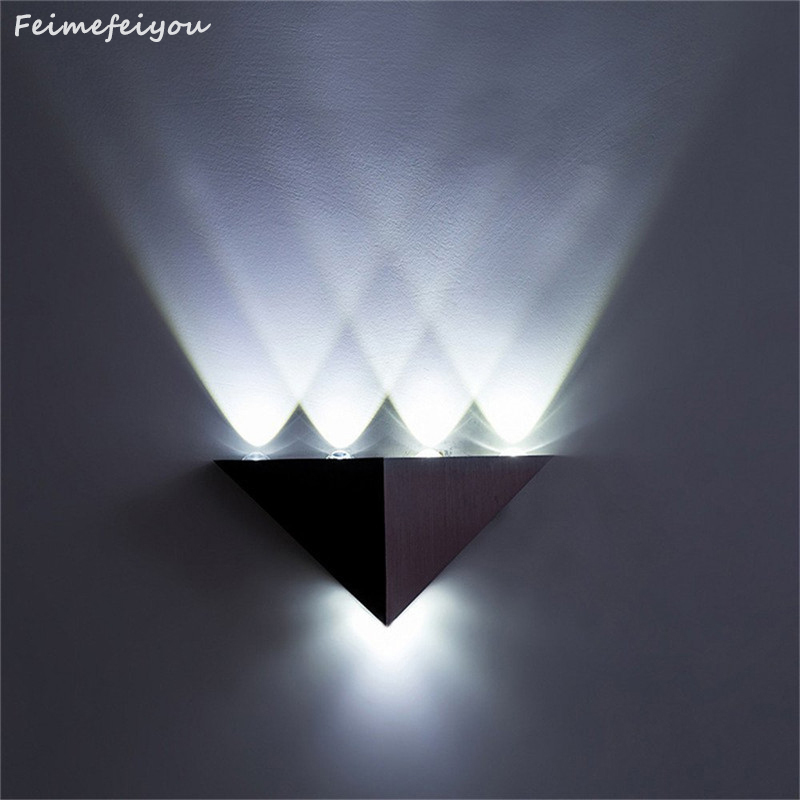 Feimefeiyou DIY led bar multi-colors 5W lampada led Aluminum Body Triangle Wall Light For Home Lighting Luminaire Wall SconceFeimefeiyou DIY led bar multi-colors 5W lampada led Aluminum Body Triangle Wall Light For Home Lighting Luminaire Wall Sconce