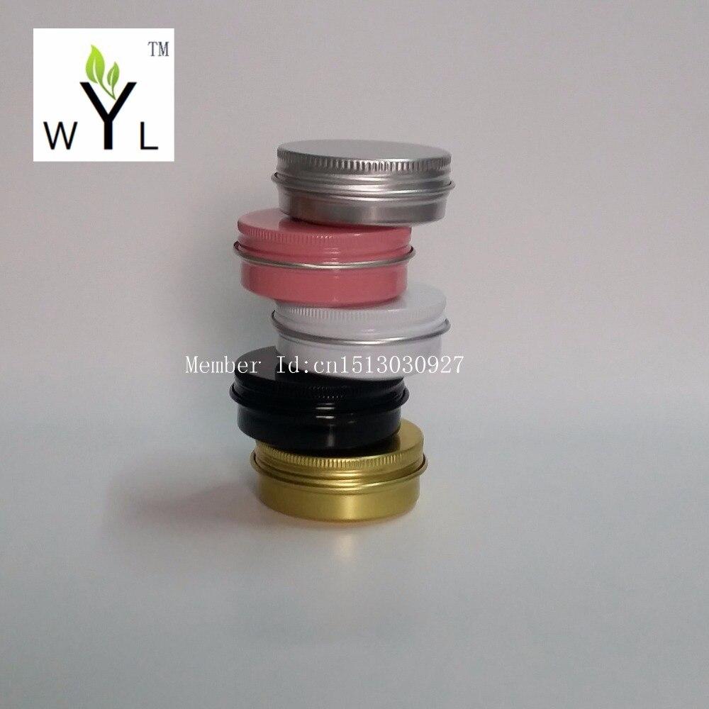 30g aluminium cream jars with screw lid cosmetic case jar 30ml aluminum tins aluminum lip balm