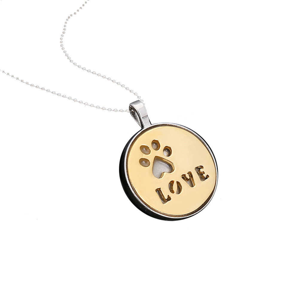 OTOKY 2018 Hot Sale 1PC Necklace For Women Personalized Fashion Jewelry Crystal Rhinestone Dog Paw For Gift Dropshipping Jun13