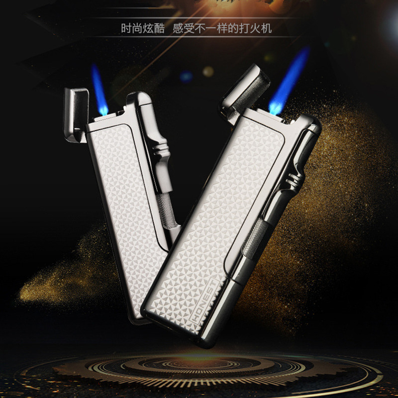 Strong Straight Flame Gas Lighter Butane Cigarette Lighter Adustable Flame Windproof Lighter Gadgets For Men Gifts