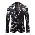 Men Blazer Designs 2017 High Quality Men's Fashion Blazers Mens Printed Blazer Wedding Dress Stage Costumes For Singers Q201