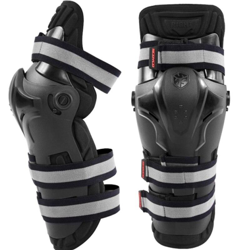 Otomobiller ve Motosikletler'ten Motosiklet Koruyucu Dizlik'de Motosiklet Diz koruyucu CE onayı diz koruma motocross spor elastik kemer Diz Pedleri koruyucu donanım K19 title=
