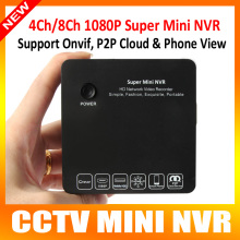1080P/720P ONVIF Mini NVR 4CH/8CH DVR HD Network Video Recorder E-SATA 1 HDD 5V/2A P2P For IP Camera With HDMI / VGA Output