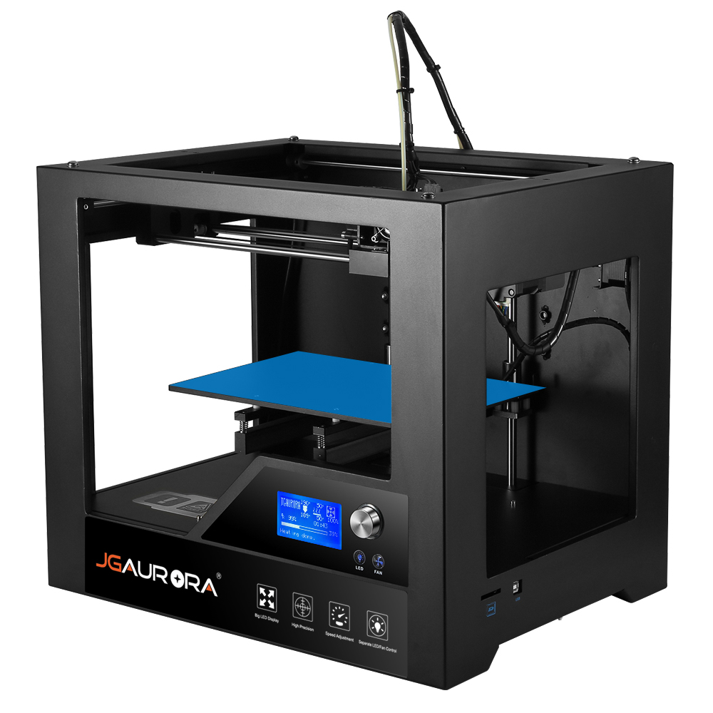 JGAURORA Z - 603S Desktop 3D Printer with LCD Screen High Precision Metal Frame ABS PLA DIY Kit for Home Use x p7 3d printer diy kit 1 75mm 0 4mm support abs pla hips 1286 4mini lcd screen