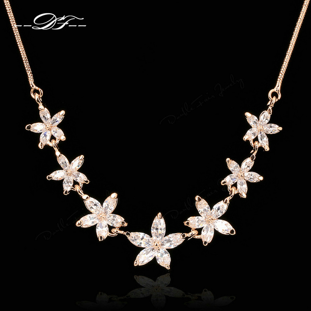 Vintage Crystal Choker Necklaces & Pendants Fashion Brand Imitation Gemstone Wedding Jewelry For Women Accessiories DFN025