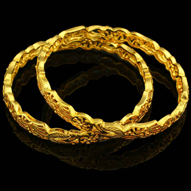 Luxury  Gold Color Bangle JewelryTrendy Dubai Gold Bangle Women Men Jewelry Ethiopian/African/Dubai Items
