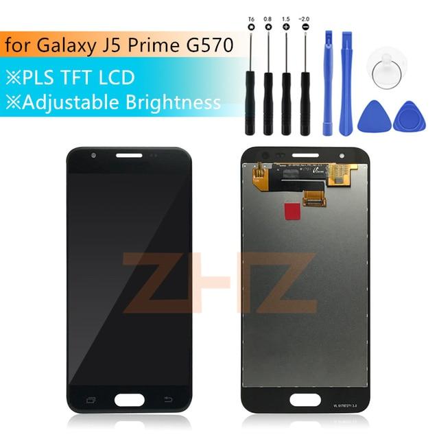 Dla Samsung Galaxy J5 Prime wyświetlacz LCD montaż digitizera ekranu dotykowego G570 wymiana G570F G570Y On5 2016 części naprawa