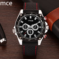 MCE Luxury Brand watches Men  Auto date Day Automatic Mechanical Wristwatches Black Rubber Band Male Clock Reloj hombre 2016