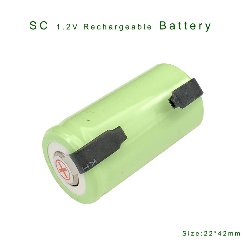 GQYM New 6pcs 22*42mm Sub C SC Rechargeable Battery 1.2V 2500mAh NI-CD Batteries For Electronic Tools VES21 T0.4