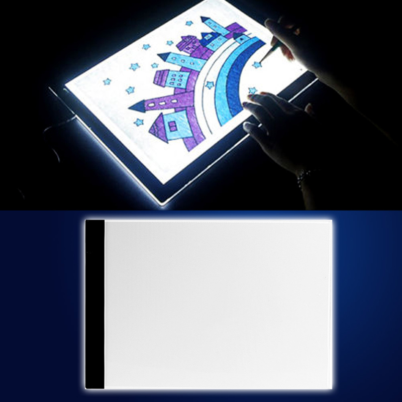 1 A4 LED Artist Thin Art Stencil Board Light Box Tracing Drawing Board Plate Set ultra thin a4 led art copy board craft tracing drawing table pad light box ah298