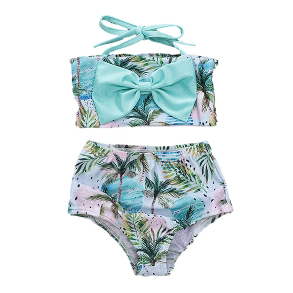 Children Swimsuit Summer Baby Girls Swimwear Straps Bow Briefs Swimsuit For GirlsChildren Swimsuit Summer Baby Girls Swimwear Straps Bow Briefs Swimsuit For Girls