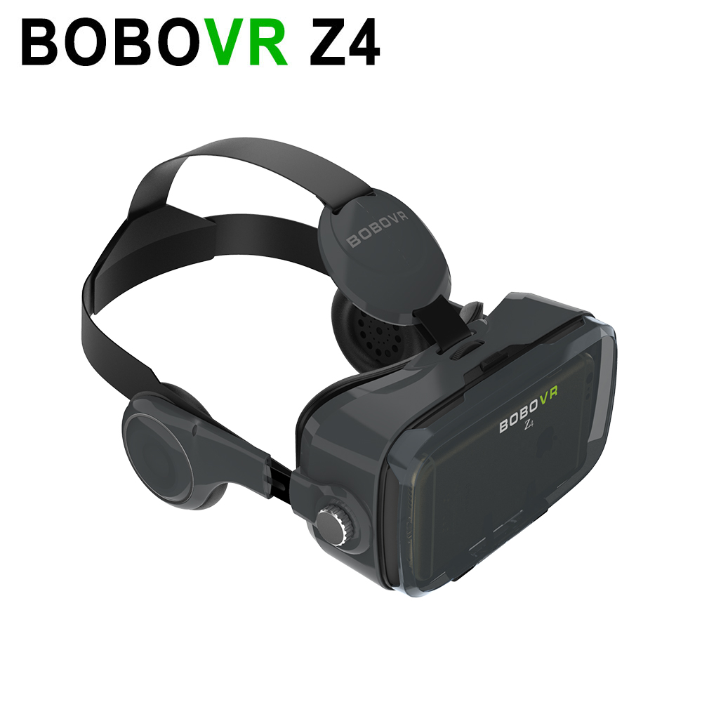 New Version BOBOVR VR Z4 Black Virtual Reality 3D Glasses with Headphones 3D Headset Support 4.7-6.0″ Smartphones for Samsung S7