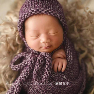 Image 5 - Newborn baby photography props,Baby stretch wrap blanket,basket cushion blanket for baby photography props