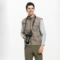 Big Size 4XL 3XL Men Vest Casual Male Waistcoat With Many Pockets Multi Function Army Green Summer Mesh Vest A3227