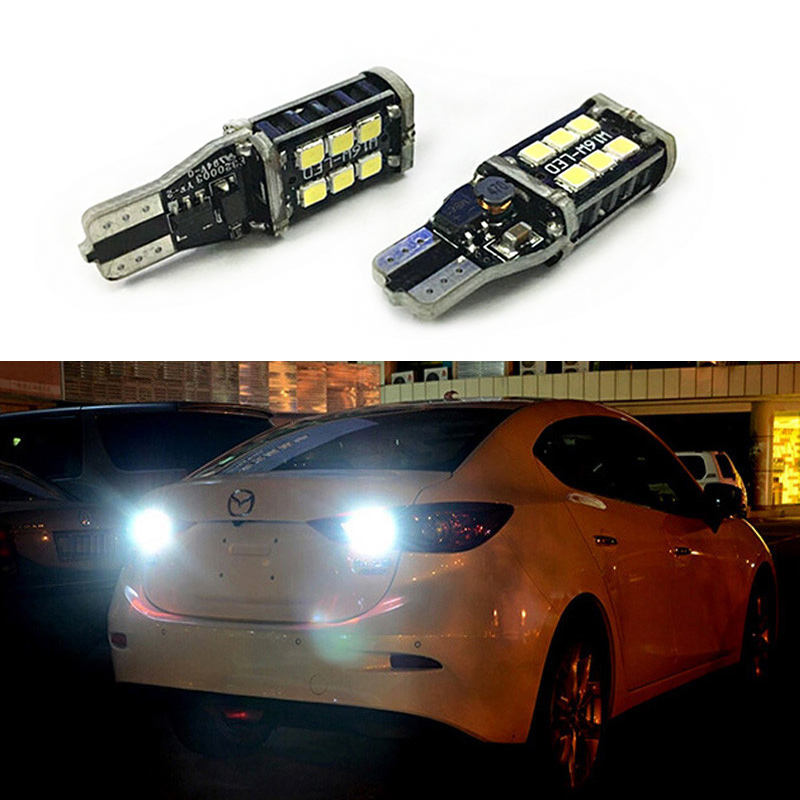 2x T15 <font><b>LED</b></font> Bulb W16W Canbus Car Reverse <font><b>Light</b></font> Backup <font><b>Lights</b></font> For <font><b>Mazda</b></font> 2 3 5 <font><b>6</b></font> 626 CX-5 CX-9 MPV MX-5 Miata RX-8 Tribute Millenia image