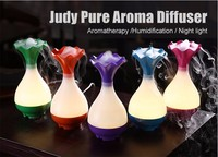Vase Shaped Ultrasonic USB Aroma Humidifier Air Diffuser Purifier Lonizer Atomizer Night Lamp Household And Car