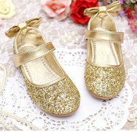 gold girls Children Casual Shoes Children's Flats Children Princess Glitter shoes Kids Girls leather shoes Dress Party Shoes