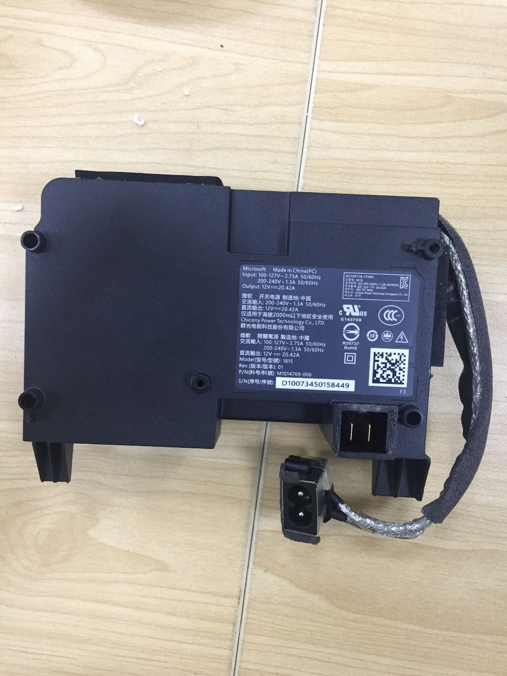 Original zweite hand Für Xbox One X Netzteil AC Adapter Für Xbox One X Konsole Ladegerät 100 V-240V reparatur teile