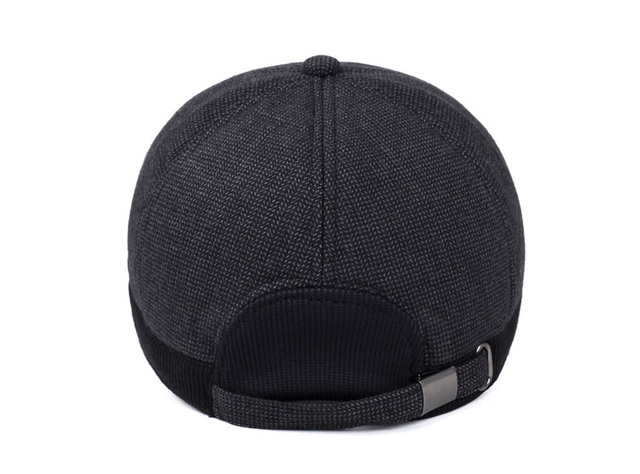 b13a900f1d9 Winter Baseball Cap Men Russian Hat with Ears Warm Woolen Hats for Men Z -3860
