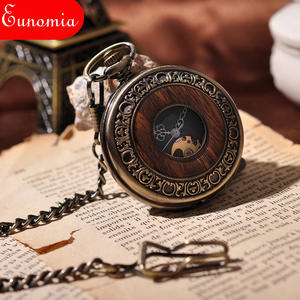 Eunomia Chain Mechanical Pocket Watch Men Gift Antique