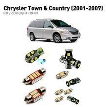 Светодиодные внутренние светильники для Chrysler town кантри 2001-2007 14 шт. светодиодные фонари для автомобилей комплект освещения автомобильные лампы Canbus