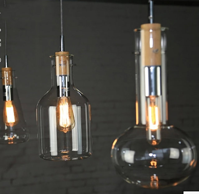 Online shop pendant lighting glass shades cord pendant lamp test pendant lighting glass shades cord pendant lamp test tube beaker wood cork clear glass bottle hanging lamps for dining room mozeypictures Images
