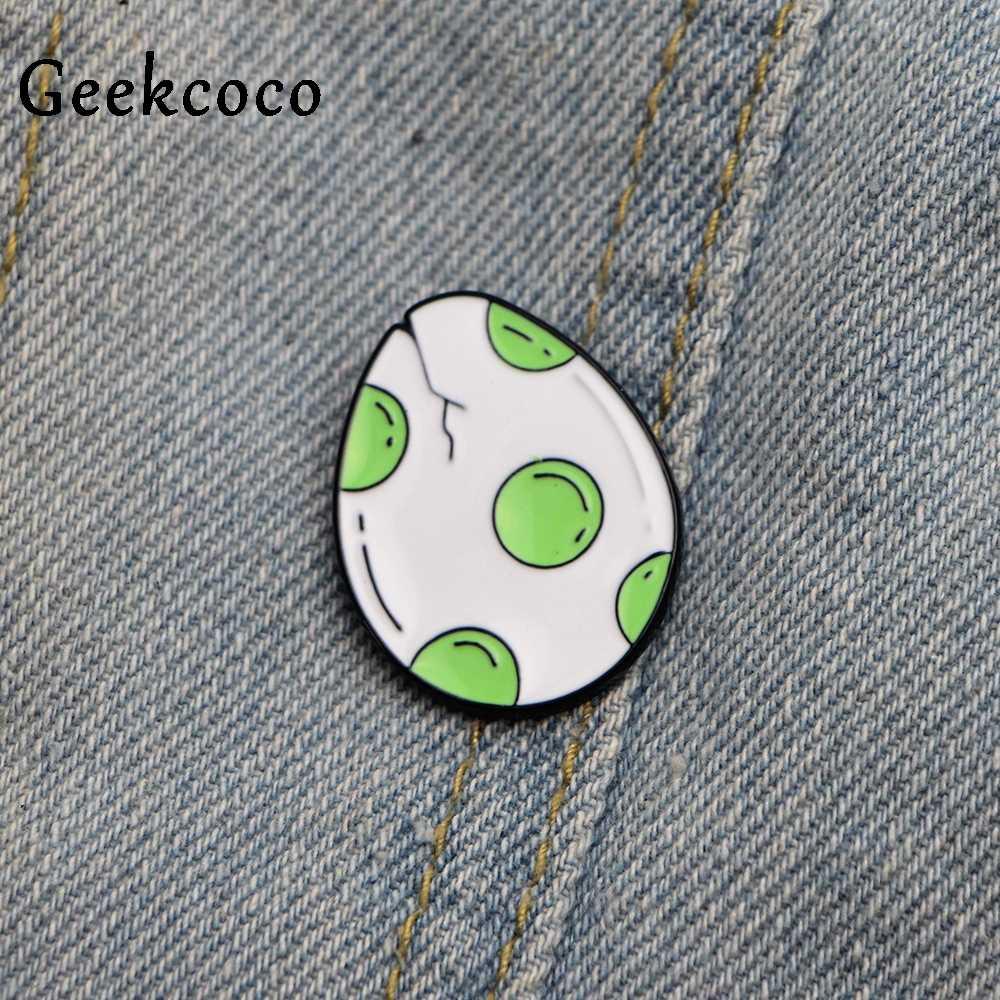 Penetasan Dinosaurus Super Mario Yoshi Zinc Alloy Pin Ransel Pakaian Bros untuk Pria Wanita Topi Dekorasi Lencana Medali J0176