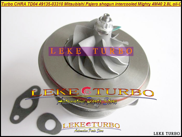Free Ship Turbo Cartridge CHRA TD04 49135-03310 49135-03130 Turbocharger For Mitsubishi Pajero 2 shogun Mighty Truck 4M40 2.8L free ship turbo cartridge chra for isuzu d max rodeo pickup 2004 4ja1 4ja1 l 4ja1l 2 5l rhf5 rhf4h vida 8972402101 turbocharger