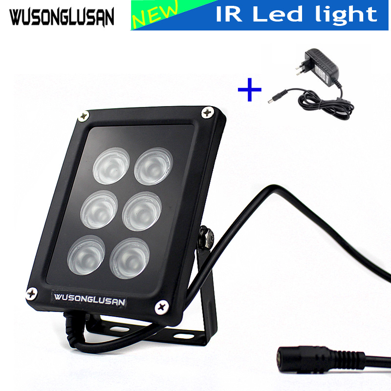New IR Led light 6 Array 30M Distance IR Infrared Waterproof IP67 Night Vision IR Fill Light For CCTV Home Smart IP AHD Cameras in home rg4 1630 smart 30m 8863 4690612010588