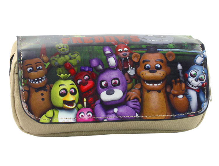 Anime Five Nights at Freddys Boy Girl Cartoon Pencil Case Bag School Pouches Children Student Pen Bag Kids Purse Wallet Gift