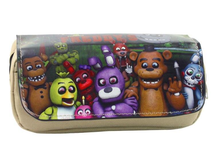 Anime Five Nights at Freddys Boy Girl Cartoon Pencil Case Bag School Pouches Children Student Pen Bag Kids Purse Wallet Gift