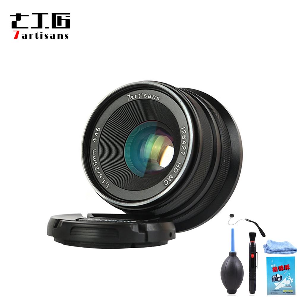 7 artisans 25mm f1 8 Prime Lens to All Single Series E Mount for Canon EOS