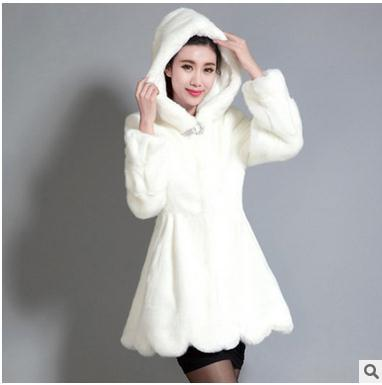 Black White Womens Long Hoodies Fur Coats Large Size Female Casual Faux  Rabbit Fur Jackets Winter And Autumn Overcoats J1379 2be562d4a