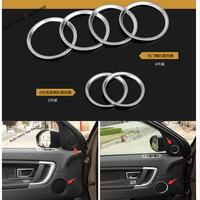 Yimaautotrims Car Door Stereo Speaker Sound Loudspeaker Ring Cover Trim 6Pcs For Land Rover Discovery Sport 2015 2018 Interior