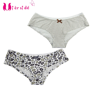 Mierside 2 Pieces Girls' Underwear Printing Panties Briefs 95% cotton 5% spandex XS/S/M size