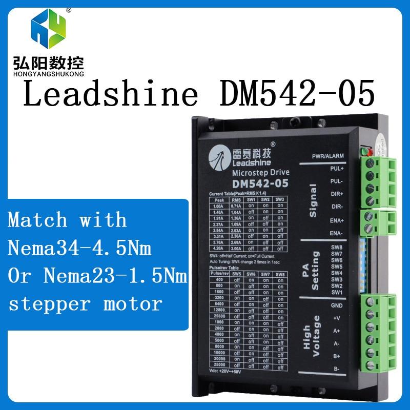 Leadshine 2-fazowy sterownik krokowy DM542 20-50VAC 1.0-4.2A do silnika krokowego NMEA23