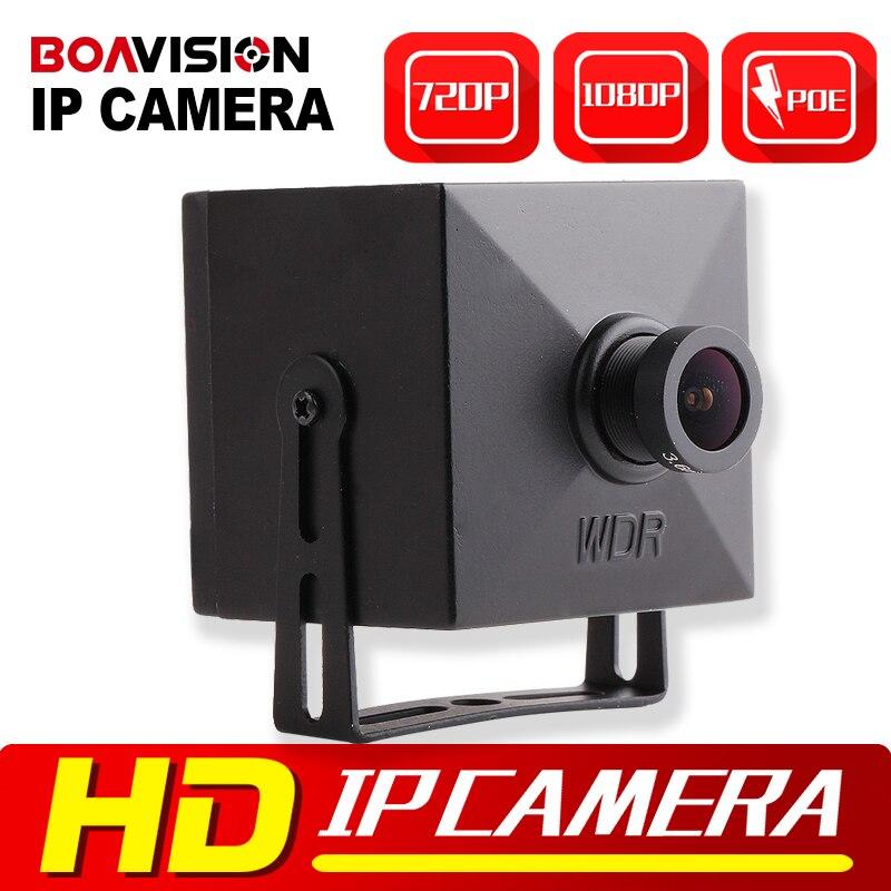 bilder für 1.0MP 2MP Mini Ip-kamera POE Onvif 3,6mm Objektiv Super Mini größe 43x43mm P2P Wolke Sicht CCTV Überwachungskamera IP 720 P 1080 P