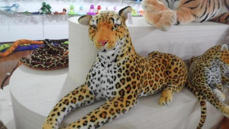 stuffed animal 60 cm leopard plush toy simulation doll great gift w524 stuffed animal 110cm plush tiger toy about 43 inch simulation tiger doll great gift free shipping w018