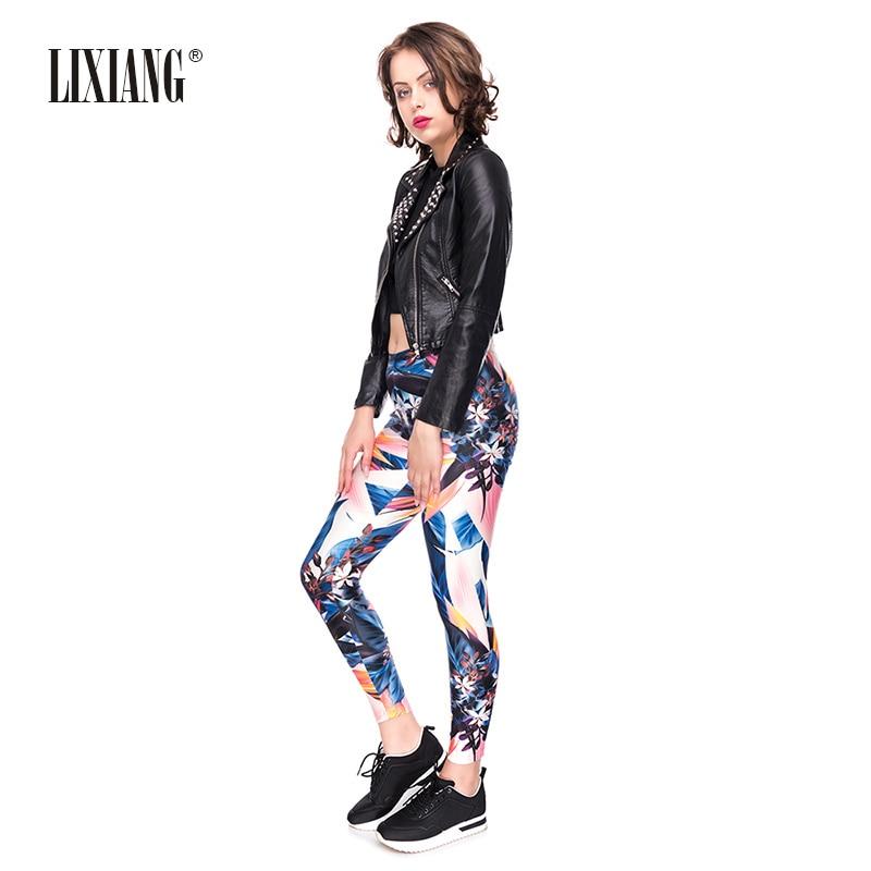 Lixiang femmes 3D imprimé Fitness sport jambières d'exercices Push Up taille haute pantalon élégant Sexy élastique respirant Leggins